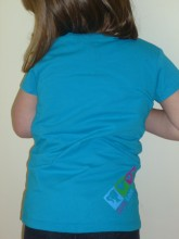Reverse of Girls Turquoise T shirt