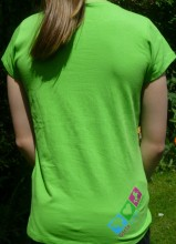 Reverse detail of girls applique T shirt