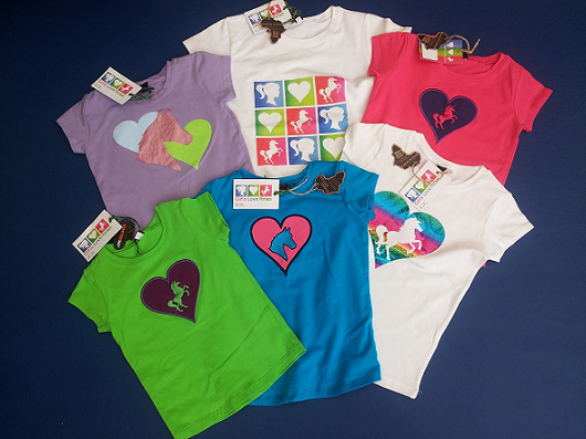 A selection of our fabulous girls' T shirts